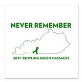 Bowling green Square Car Magnets
