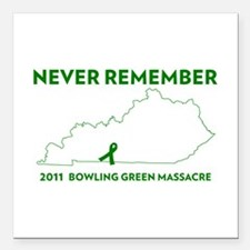 "Never Remember Bowling G Square Car Magnet 3"" x 3"""