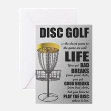 Funny Golf disc Greeting Card