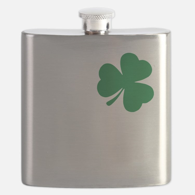 St Patrick's Day LOVE Shamrock Irish Flask