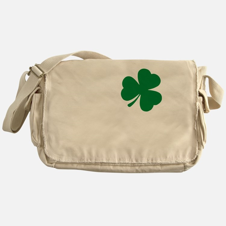 St Patrick's Day LOVE Shamrock Irish Messenger Bag
