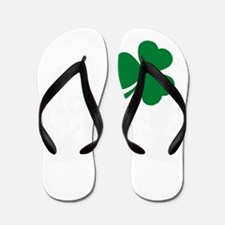 St Patrick's Day LOVE Shamrock Irish Flip Flops