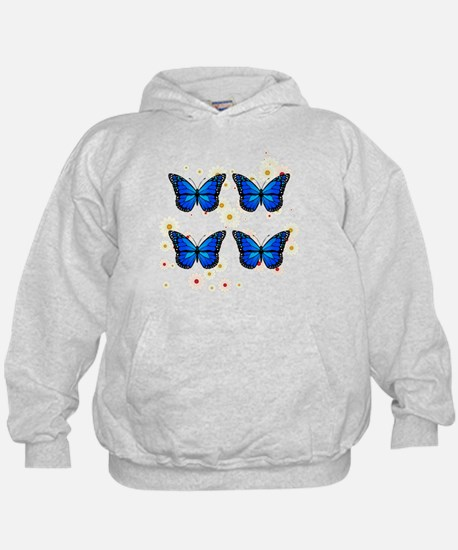 Four blue butterflies Sweatshirt