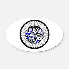 SACRED Oval Car Magnet