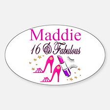 FABULOUS 16TH Sticker (Oval)