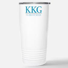Kappa Kappa Gamma Sorority Letters in Blue and Per