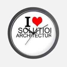 I Love Solution Architecture Wall Clock