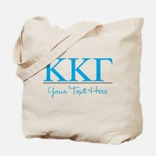Kappa Kappa Gamma Sorority Letters in Blu Tote Bag