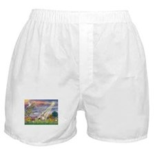 Cloud Angel & Whippet (#2) Boxer Shorts