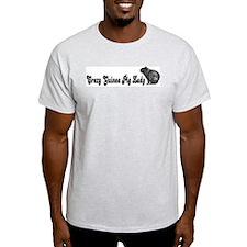 """""""Crazy Guinea Pig Lady"""" Ash Grey T-Shirt"""