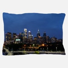 Philadelphia cityscape skyline view Pillow Case