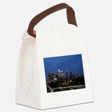 Philadelphia cityscape skyline vi Canvas Lunch Bag