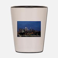 Philadelphia cityscape skyline view Shot Glass