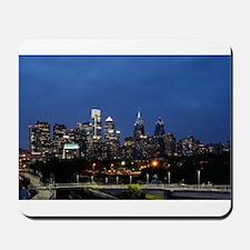 Philadelphia cityscape skyline view Mousepad