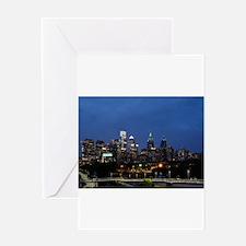 Philadelphia cityscape skyline view Greeting Cards