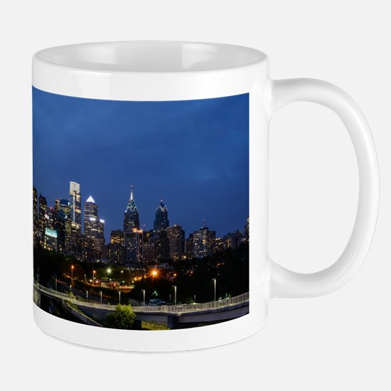 Philadelphia cityscape skyline view Mugs