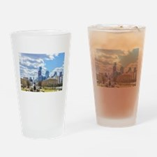 Philadelphia cityscape skyline view Drinking Glass