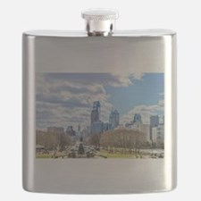 Philadelphia cityscape skyline view Flask