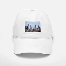 Philadelphia cityscape skyline view Baseball Baseball Cap