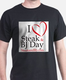 I Love Steak & BJ Day Ash Grey T-Shirt