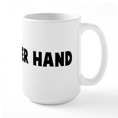 Hand over hand Large Mug