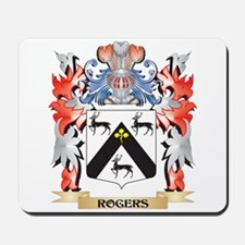 Rogers Coat of Arms - Family Crest Mousepad