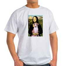 Mona Lisa (new) & Whippet Ash Grey T-Shirt