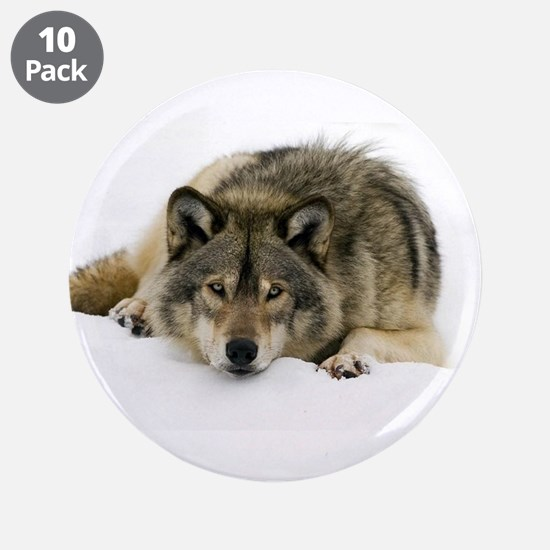 "wolf in the snow2000 3.5"" Button (10 pack)"