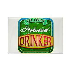 professional drinker Rectangle Magnet (10 pack)
