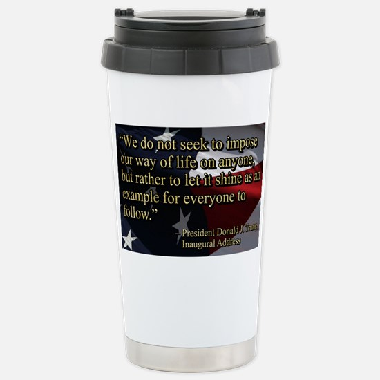 PRES45 SHINE AS EXAMPLE Stainless Steel Travel Mug