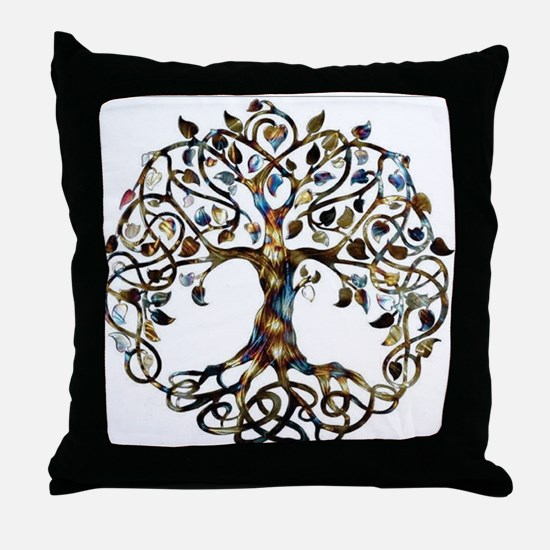 Brown_Tree_Of_Life Throw Pillow