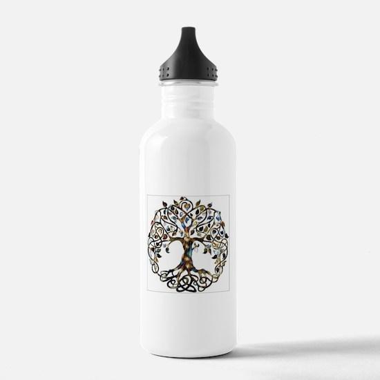 Brown_Tree_Of_Life Water Bottle