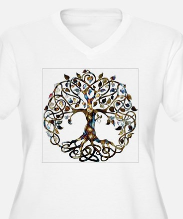 Brown_Tree_Of_Life Plus Size T-Shirt