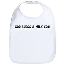 God bless a milk cow Bib
