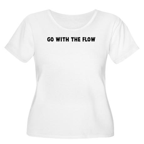 Go with the flow Women's Plus Size Scoop Neck T-Sh
