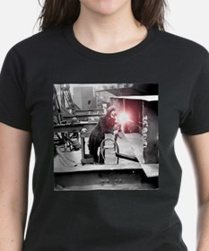 Vintage Female Worker with Ox Tee