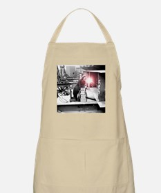 Vintage Female Worker with Oxy-Fuel Cutter Apron