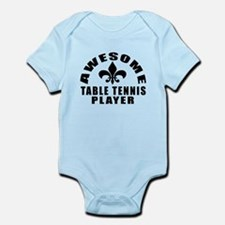 Awesome Table Tennis Player Design Infant Bodysuit