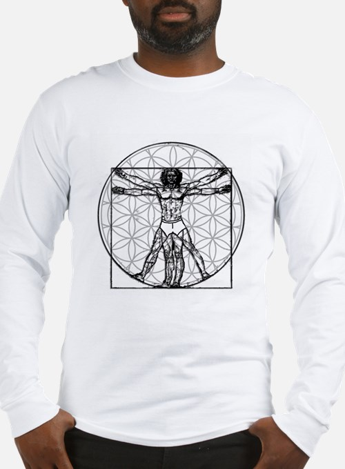 Vitruvain Flower of Life Long Sleeve T-Shirt