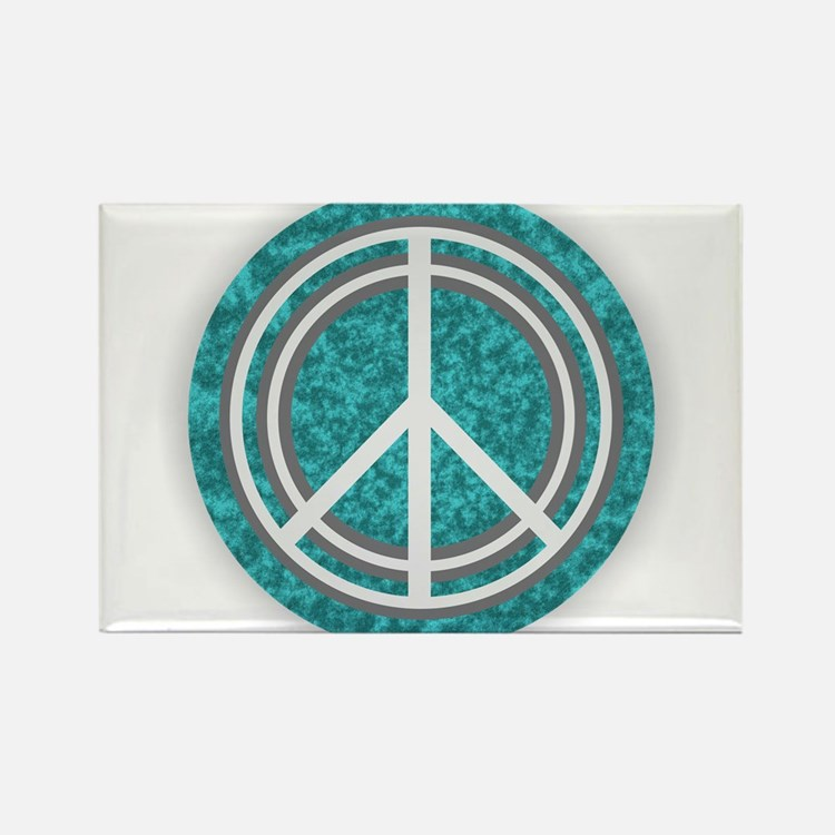 Turquoise Peace Sign Magnets