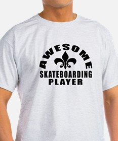 Awesome Skateboarding Player Designs T-Shirt