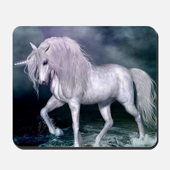 Wonderful unicorn on the beach Mousepad