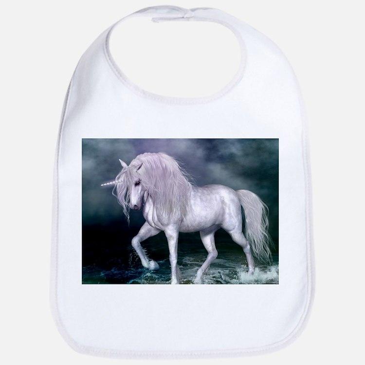 Wonderful unicorn on the beach Baby Bib