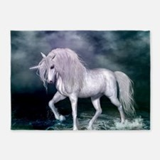Wonderful unicorn on the beach 5'x7'Area Rug