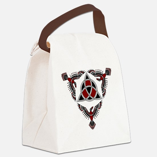 Red Raven Protectors Canvas Lunch Bag