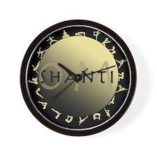 Om Shanti Wall Clock