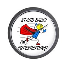 STAND BACK! I'M SUPERHEROING! Wall Clock