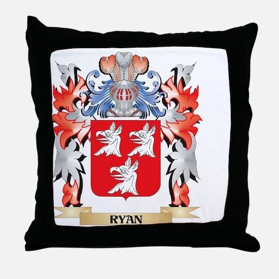 Ryan Coat of Arms - Family Crest Throw Pillow