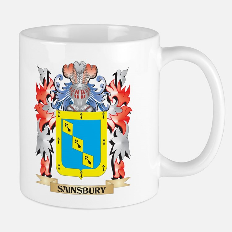 Sainsbury Coat of Arms - Family Crest Mugs