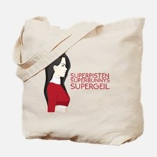 Unique Superbunny Tote Bag